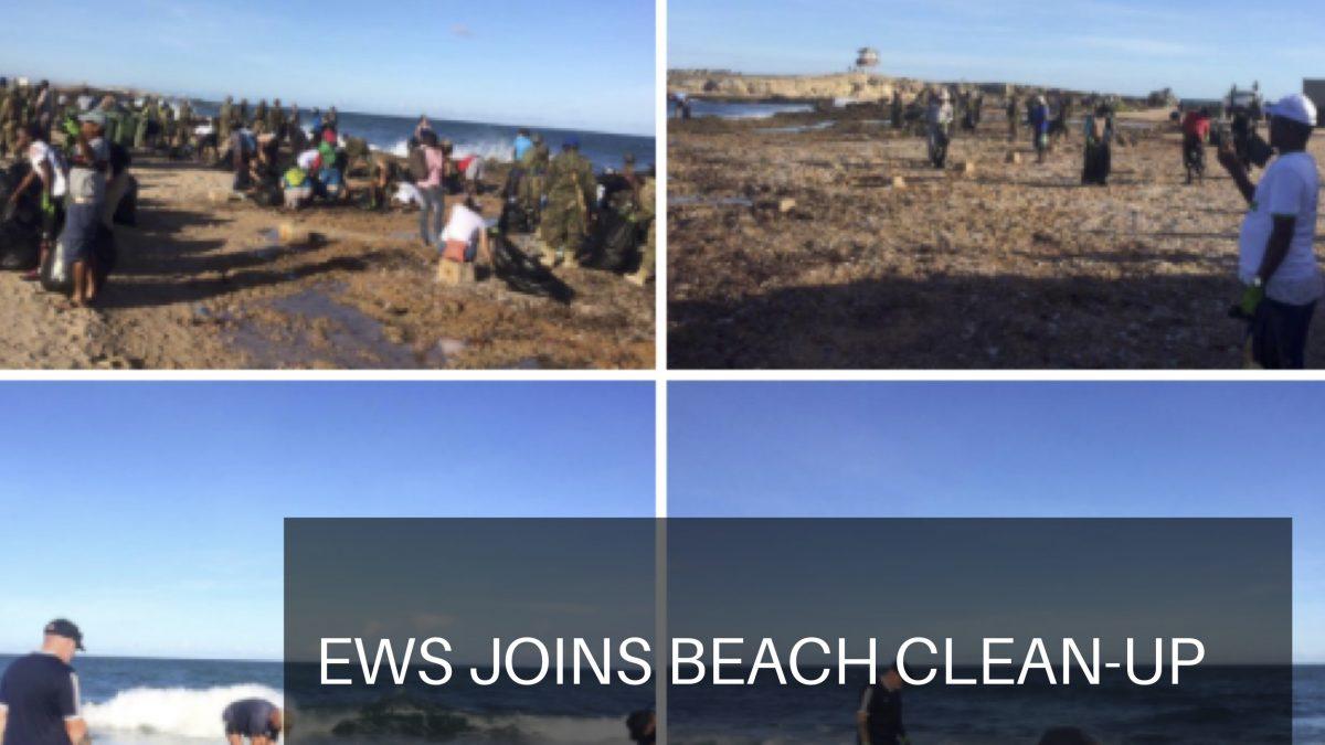EWS FSRs join UNSOM beach clean up in Mogadishu