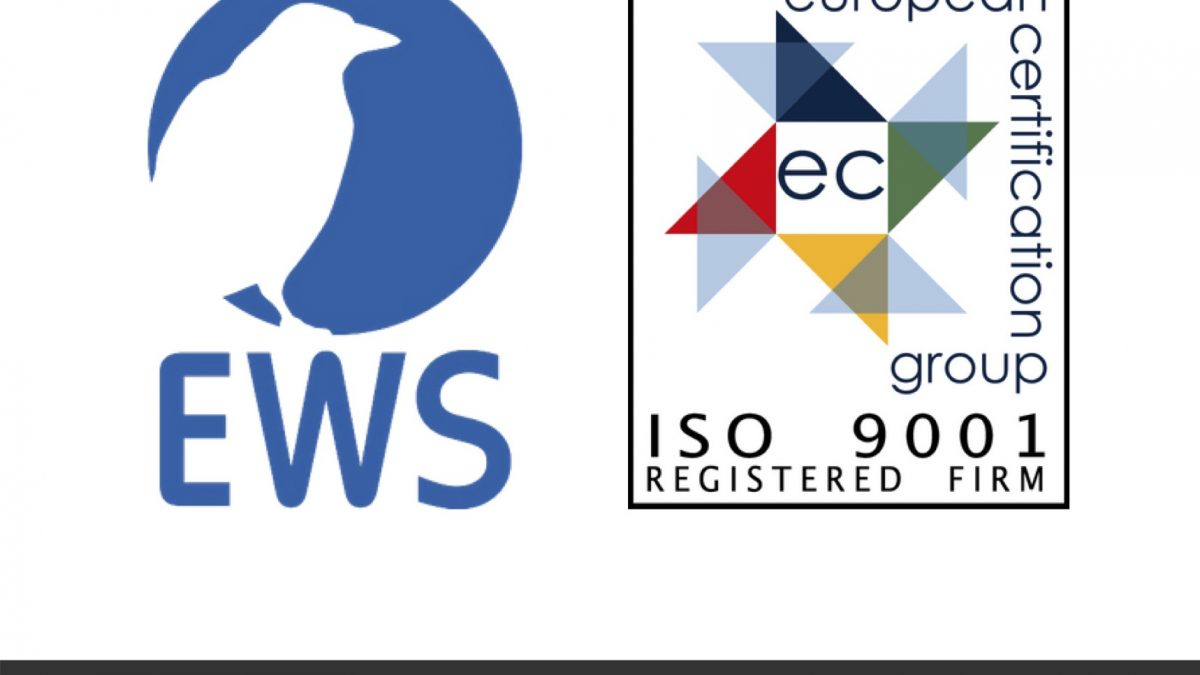 EWS achieves ISO 9001:2015 certification