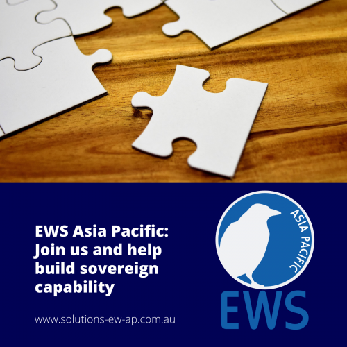 Join us at EWS (AP) and help build sovereign capability
